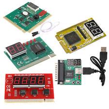 New 2/4 Digit 3 in1 PCI PCI-E PC Analyzer Analysis Diagnostic Card USB POST Card