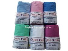 Lenzuolo maxi puro cotone fibra naturale matrimoniale con elastico tinta unita