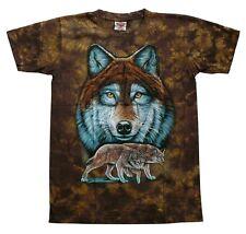 T-Shirt Wolf Kopf,Paar,Gr.S,M,Western Biker Cowboy Indianer Krafttier Wölfe Lobo