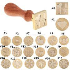 Xmas Greeting Card Wax Seal Sealing Stamp Wood Handle for Envelope Logo DIY
