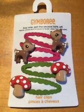 Gymboree hair snap clips barrettes Rainbow Sherbet Strawberry Patch Folk choice