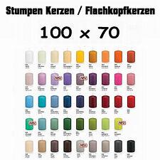 12 Stumpen Kerzen 100x70mm 1.Wahl RAL Qualität / Kerzen Wiedemann / Topseller