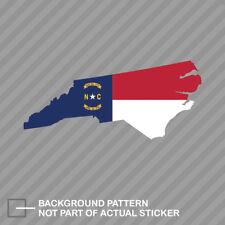 North Carolina State Shaped Flag Sticker Decal Vinyl NC