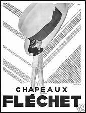 CAPPELLI CHAPEAUX FLECHET UOMO MODA ELEGANZA 1933