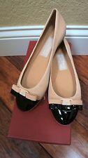 $600 Ferragamo Flats Cap Toe Ballet Flats Varina Quarzo Rosa Patent 8M GORGEOUS!