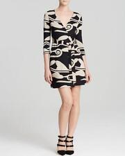 DVF Diane Von Furstenberg NEW JULIAN TWO Silk Wrap Dress Cloud Dream Nude $398