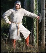 White Color Gambeson Medieval Padded Full Sleeves Armor Reenactment Larp Gift