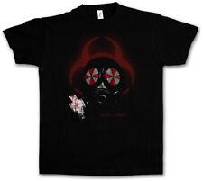 GAS MASK BIOHAZARD UMBRELLA T-SHIRT Resident Corporation Corp Evil Logo Nemesis