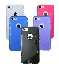 Silikon Gummihülle Schutz + Folie für Iphone 7 Zubehör Soft Schutztasche