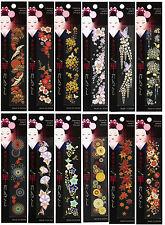 Maiko Lady's kanzashi design Japanese MAKIE seal Sticker 12 Types Japan