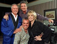 DALLAS TV SERIES Larry Hagman Linda Gray cast GLOSSY PICTURE 8x10 PHOTO