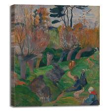 Gauguin paesaggio bretagna mucche quadro stampa tela dipinto telaio arredo casa