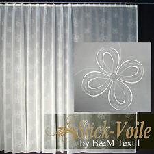 Hochwertige Fertiggardine VOILE Store mit Motiv Faltenband&Bleiband CREMONA