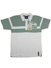 Polo uomo RICHBEAR Tg. M L XXL Cotone Bianco Righe Verde T-shirt 32710 Original