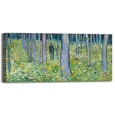 Van Gogh sottobosco con due figure quadro stampa tela dipinto telaio arredo casa