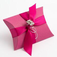 Fuchsia texturé oreiller/pochette de mariage diy faveur boîtes parti box