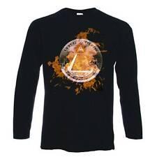 Gli illuminati FIAMME T-shirt Teoria del complotto-NUOVO ORDINE MONDIALE Nwo CULT