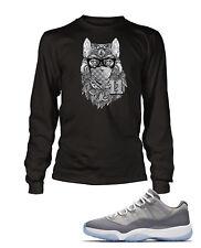 Wolf Tee Shirt to Match Air Jordan 11 Low Cool Grey Shoe Mens Graphic Pro Club