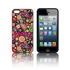 'Hippy' étui en Silicone pour Apple iPHONE 5, 5S,SE,5C Caoutchouc Noir Gel