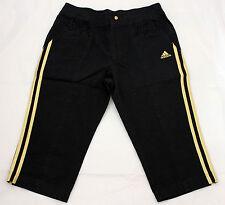 ADIDAS pantaloni bambino XL YG Lin capri wo metalgold/black cod. E15561 _