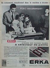 PUBLICITE MACHINE A TRICOTER ERKA 58.000 Frs DE 1959 FRENCH ADVERT PUB RARE