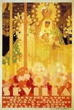 Seville Sevilla Spring Good Friday Spain Tourism Vintage Poster Repo FREE SH