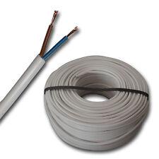 (0,67 €/m) H05VV-F 2x1,5 mm² H05VVF 2x1,5 weiß - Schlauchleitung Stromleitung