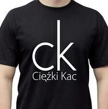 Kac czarna smieszna koszulka Polska alkohol funny shirt smieszne koszulki Polski