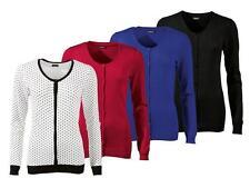 (R27) ESMARA Damen Strickjacke Jacke Feinstrick Cardigan Langarm viele Farben