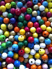 (0,03€/St.) 500x Holzperlen 10mm Perlen Mix Holz Basteln bunt Schnäppchen NEU