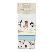 Cooksmart 3 Pack Animal Design Tea Towels - 3 Designs 100% cotton.