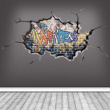 3D  PERSONALIZED COLORS GRAFFITI CUSTOM NAME WALL ART STICKER DECAL WSDPGN113