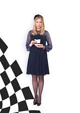 %Lavand Alice Chiffon Kleid blau S-M (Gr.34-36)
