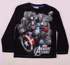 Marvel Avengers Assemble Kids Boys Long Sleeve T-Shirt Size 9,14 NWT
