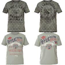 AFFLICTION T-Shirt CK Old Glory Rev. Grau T-Shirts