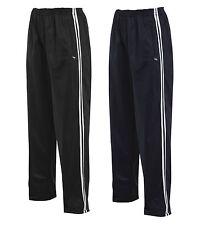 Niños Chándal Pantalones Tricot Rayas Deportes Pantalones Negro Azul Marino 4-13 años