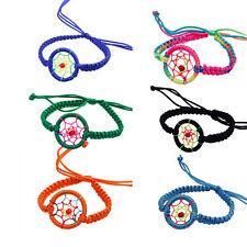 1PC Fashion Leather Cute Charm Campanula Dream Catcher Bracelet Hoc