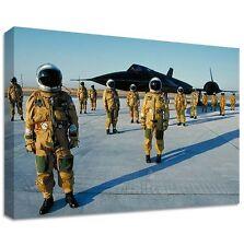 BLACKBIRD PILOTI TELA GRANDE ARTE DA PARETE lockheed sr-71 militare test pilota
