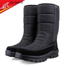 Men waterproof high cashmere boots Fleece black Winter Snow Shoes Outdoor Boots