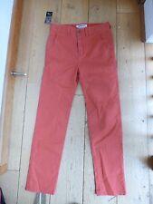 Quiksilver straight conique rouge délavé orange rose jeans pantalon 28 14 ans chino