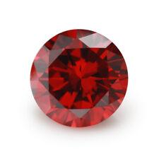 Size 0.8mm~10mm Garnet Loose CZ Stone Round Shape Cubic Zirconia Stone