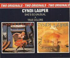CYNDI LAUPER -2CD- SHE'S SO UNUSUAL + TRUE COLORS  ░▒▓█▄▀▄▀▄▀▄▀