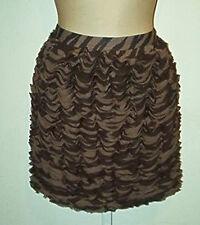 MICHAEL Kors NWT $130 Animal Print Ruffle Mini  Skirt  Sz 10 12