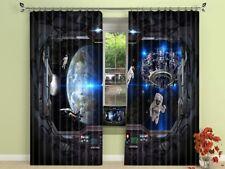 3D Earth Space 70 Blockout Photo Curtain Print Curtains Drapes Fabric Window AU