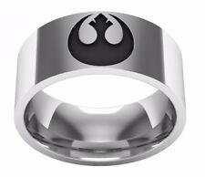 Star Wars Rebel Alliance Stainless Steel Band Ring Multiple Men's Sizes Avail.