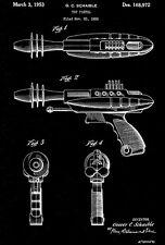 1953 - Laser Gun Toy - Pistol - Patent Art Poster