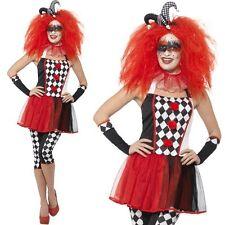 Halloween Donna Twisted Arlecchino Costume Outfit Nuovi Da Smiffys