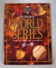 1993 World Series Official Program Phillies Blue Jays