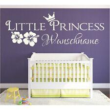 Little Princess WANDTATTOO Name Wunschname Wunschtext Sticker Wandaufkleber