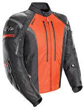Joe Rocket Men's Atomic 5.0 Black/Orange Waterproof Armored Motorcycle Jacket